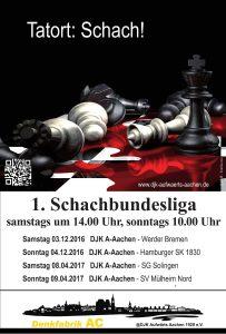 Schachank. 2. Budesliga2016 17 Tatort Schach